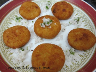 Coconut Filled Potato Patties