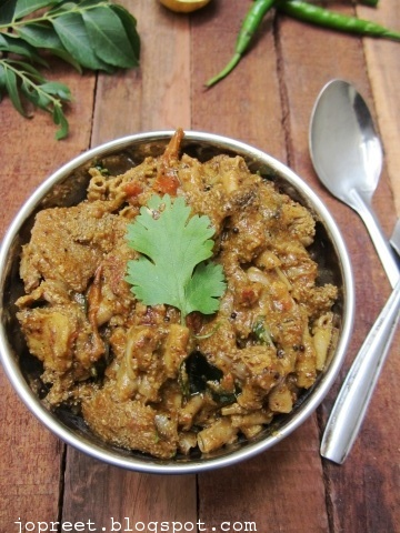 Spicy Boti Poriyal (Spicy Mutton Tripe Gravy)