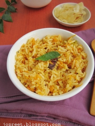 Spicy Carrot Rice