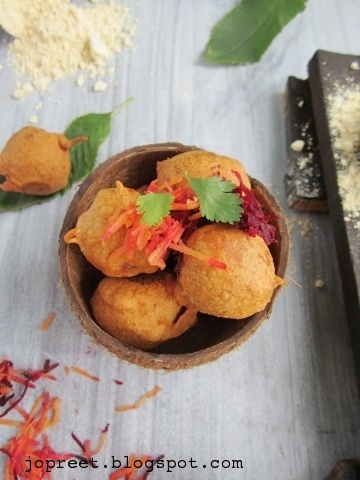 Beets, Carrot & Potato Bonda