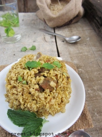 Mutton Biriyani with Brown Basmati Rice