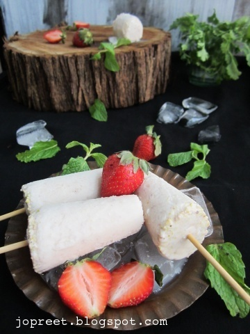 Strawberry & Pista Kulfi