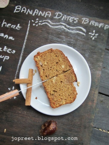 Wheat Banana & Dates Syrup Bread