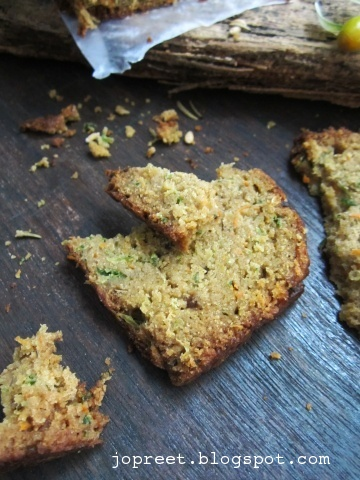 Wheat Zuchini & Carrot Bread