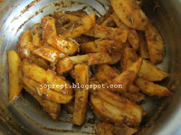 Oven Roasted Potatoes with Herbs & Indian Spices