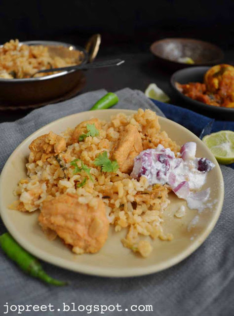 Chicken Biriyani with Brown Basmati Rice