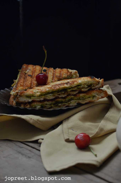 Grilled Omelet Sandwich with Gongura Chutney