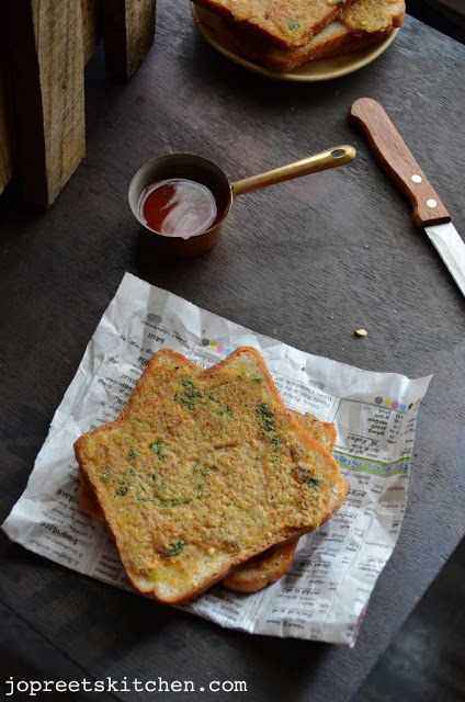 Oats & Rava Bread Toast