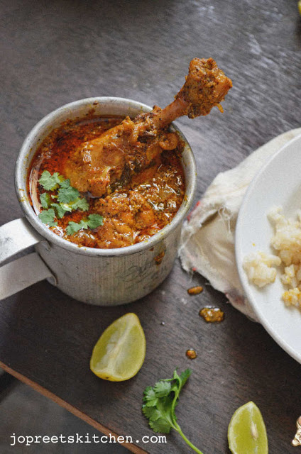 Achaari Murg (Chicken cooked with Pickling Spices)