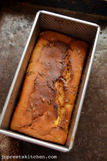 Wheat, Apple & Mango Bread - Eggless Baking
