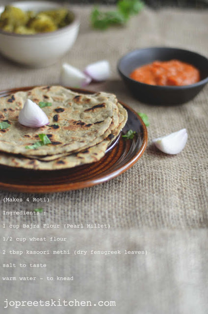 ... roti. Remove from the heat and serve hot with garlic chutney and onion