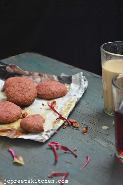 Beetroot Cookies (Eggless & Butter-less)
