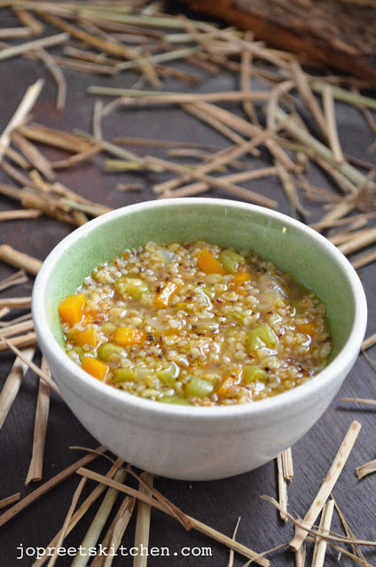 Vegetable Dalia (Broken Wheat Porridge)
