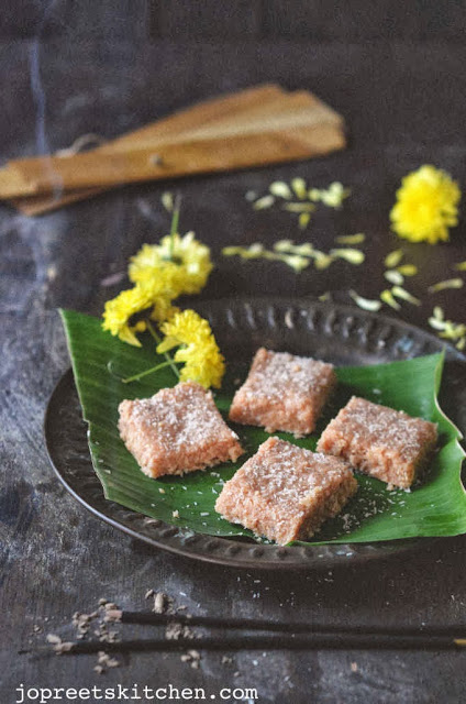 Coconut & Condensed Milk Burfi (Thengai Barfi)