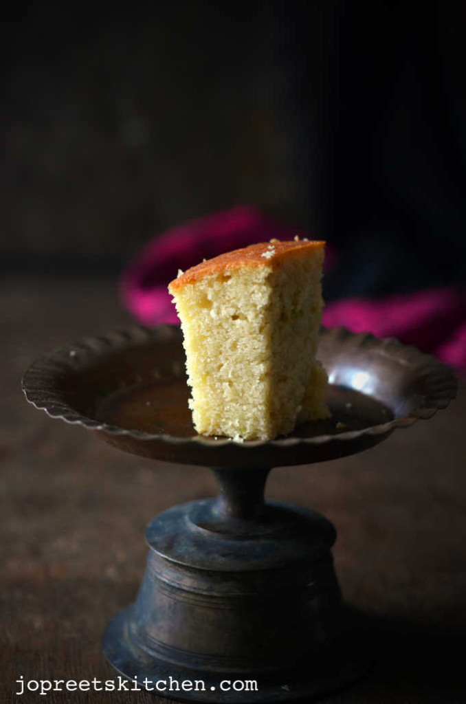 Sweet Lime & Coconut Cake (Egg-less & Butter-less) / Mosambi Cake