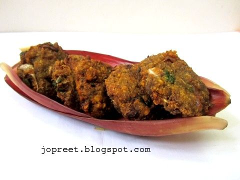 Banana Flower Vadai