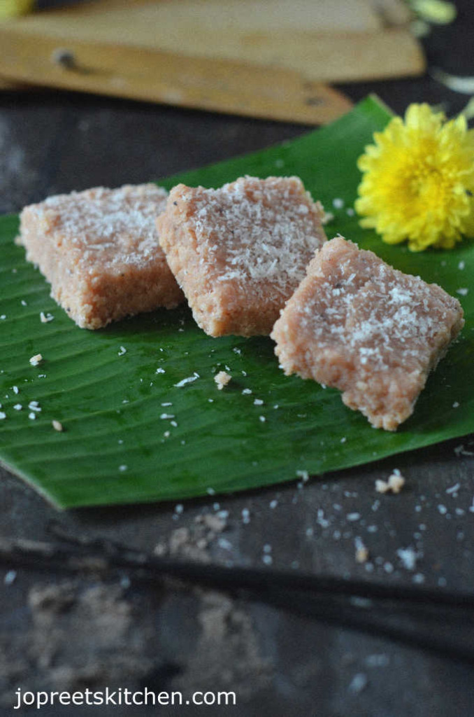 Coconut Condensed Milk Barfi