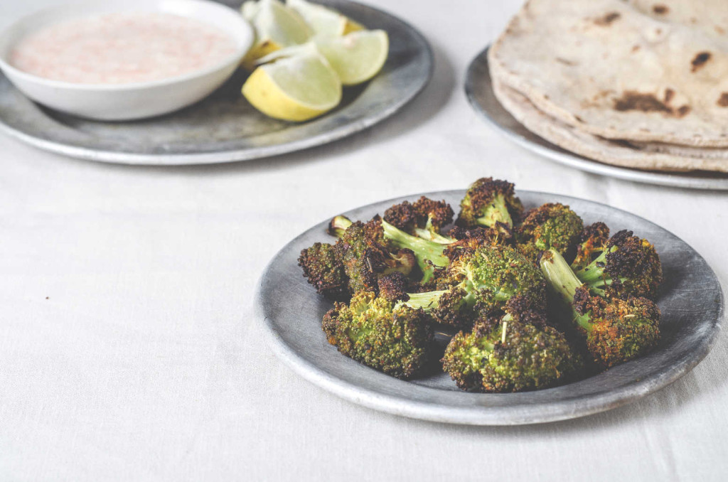 Oven Roasted Broccoli with Mixed Herbs & Indian Spices