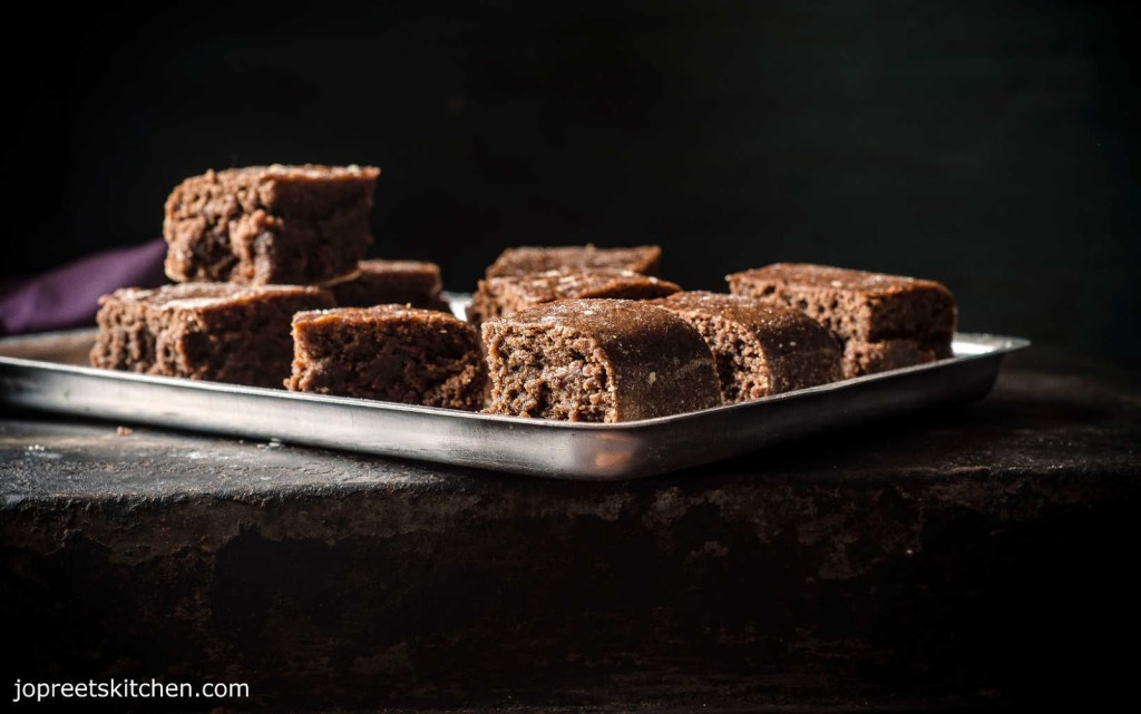 Steamed Wheat & Condensed Milk Brownies (Egg-less & Butter-less) - Easy Chocolate Brownies Recipe