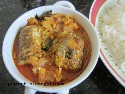 fish cabbage curry