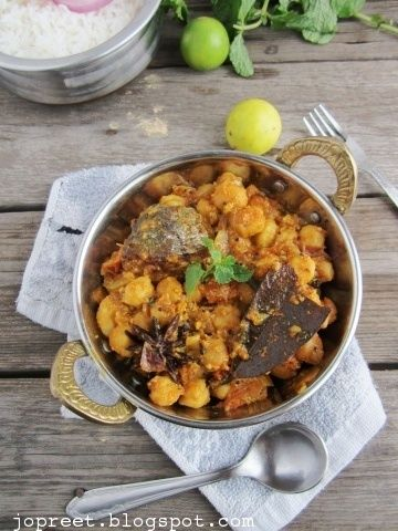 fish and chickpeas masala