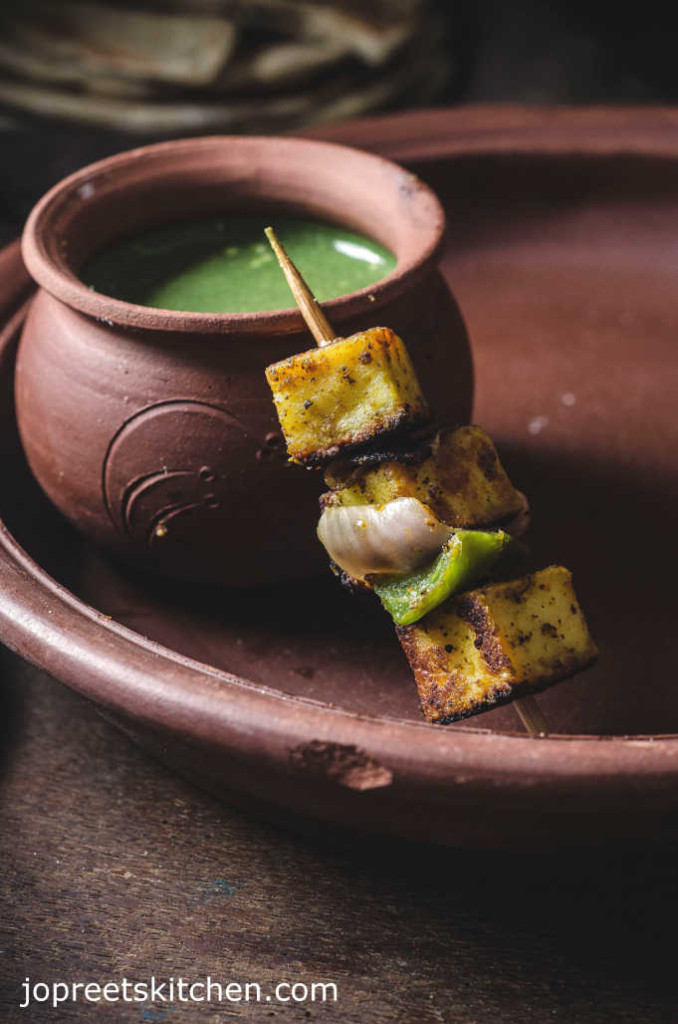 how to prepare paneer tikka without oven