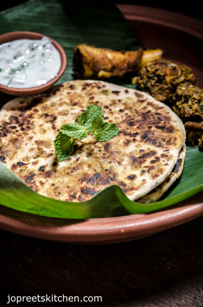Mutton Keema Paratha / Minced Lamb Meat Stuffed Flat-bread