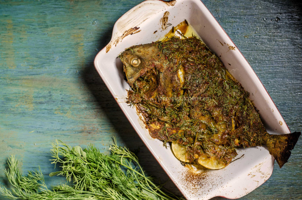 Tandoori Pomfret flavored with Dill Leaves (Baked & Stove-top Versions)